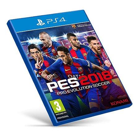 PES 2018: Pro Evolution Soccer - Ps4 - Mídia Digital
