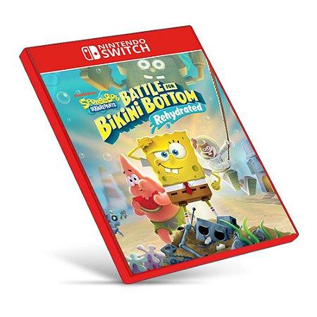 Bob Esponja Calça Quadrada: Batalha pelo Biquíni – Rehydrated - Nintendo Switch - Mídia Digital