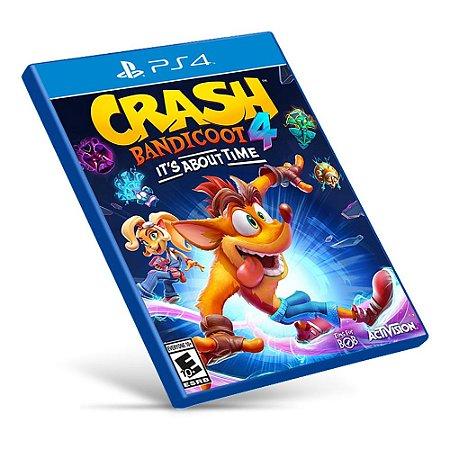 Crash Bandicoot 4: It's About Time - PS4 - Mídia Digital
