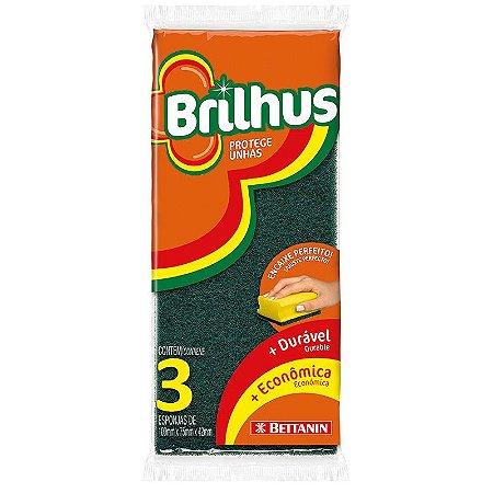 Esponja Brilhus Protege Unhas - Bettanin - Pacote com 3 unidades