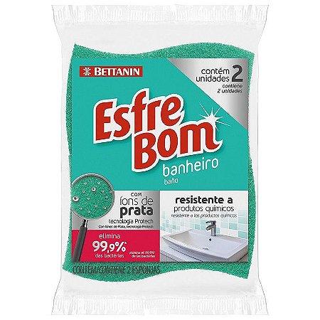 Esponja Esfrebom Banheiro - Pacote com 2 unidades - Bettanin