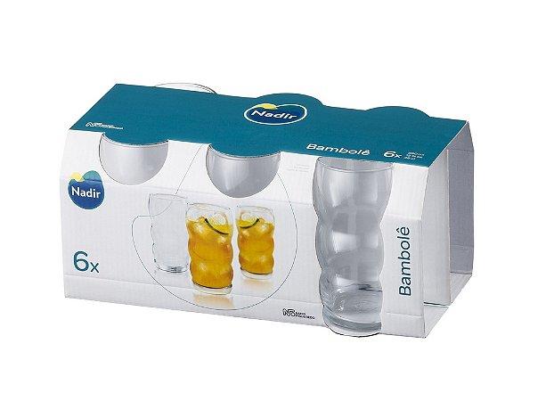 Jogo de Copo Bambolê Long Drink 380ml Com 6 unidades - Nadir Figueiredo