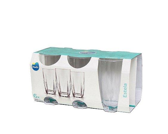 Jogo de Copos Estela Long Drink 460ml C/ 6 unidades - Nadir Figueiredo