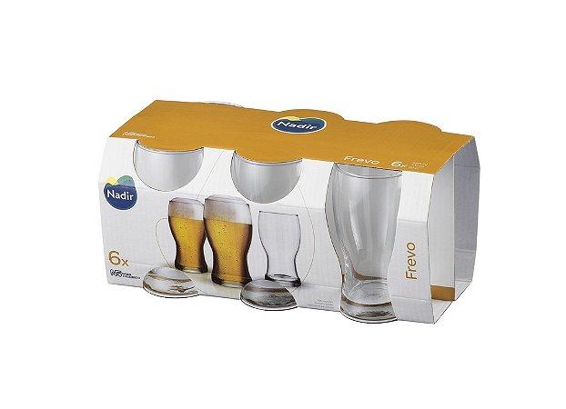 Jogo de Copo Frevo Cerveja 220ml C/ 6 unidades - Nadir Figueiredo