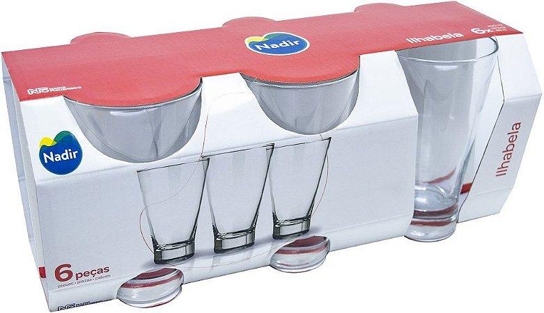 Jogo de Copo Ilhabela Long Drink 400ml Com 6 unidades - Nadir Figueiredo