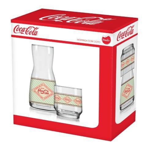 Jogo de Moringa Retrô Coca-Cola Com 2 Peças – Nadir Figueiredo