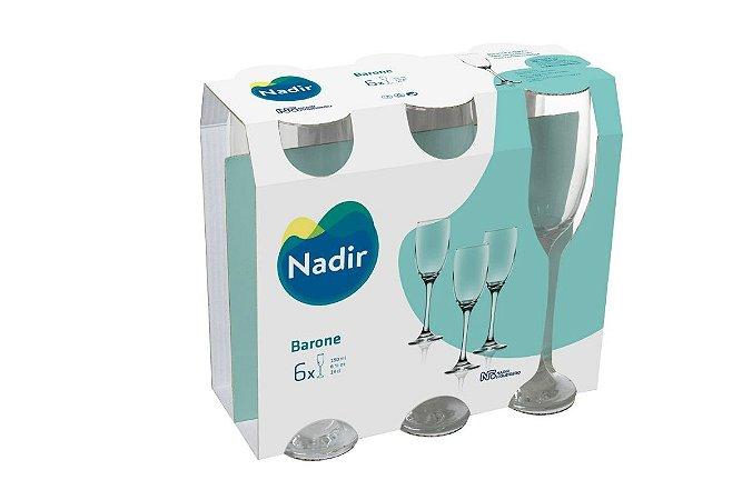 Jogo de Taça Barone Champagne 190ml Com 6 unidades - Nadir Figueiredo