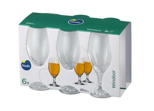 Jogo de Taça Windsor Cerveja 330ml Com 6 unidades - Nadir Figueiredo