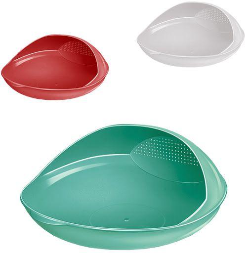 Lava Arroz Prático Redondo 1,2 Litros – Plástico Santana | CORES SORTIDAS