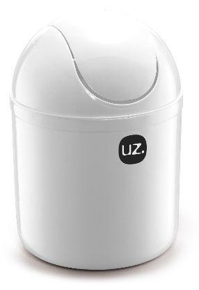 Lixeira Basculante 4 Litros Branco Sólido - UZ
