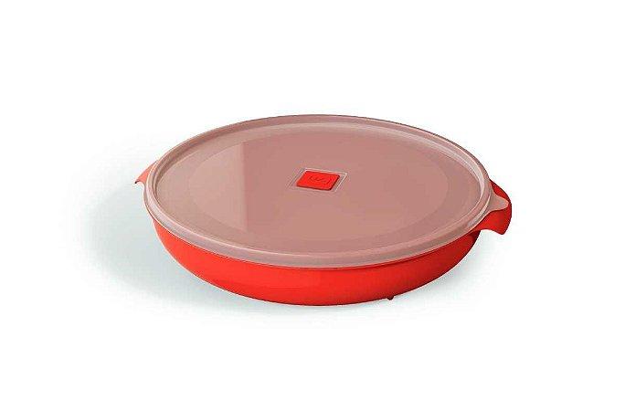 Pote Multiuso Premium Redondo 2,5 Litros Vermelho -  UZ