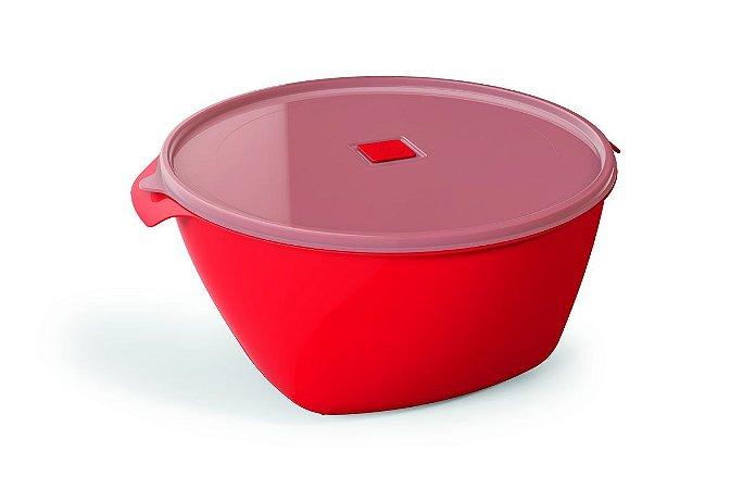 Pote Multiuso Premium 4 Litros Vermelho Sólido – UZ
