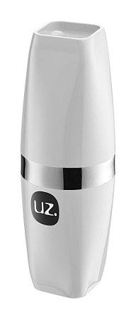 Porta Escova com Tampa Premium  Branco Metalizado - UZ