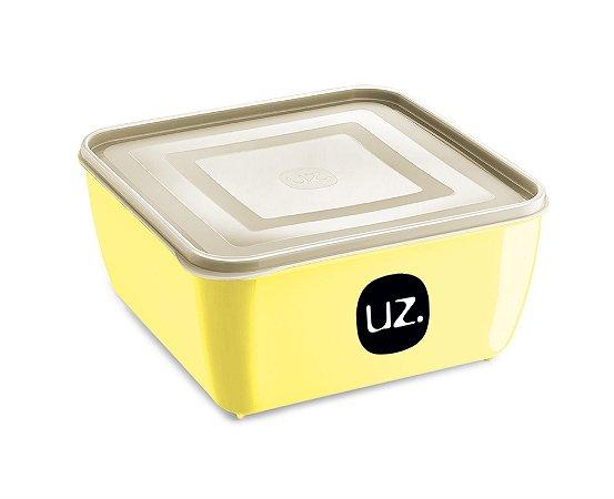 Pote Multiuso Premium Quadrado 500ml Amarelo Claro Sólido - UZ