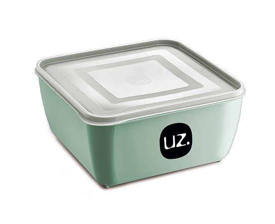 Pote Multiuso Premium Quadrado 500ml Verde Menta Sólido - UZ