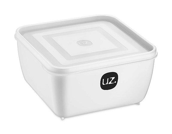 Pote Multiuso Premium Quadrado 2,5 Litros Branco Sólido - UZ