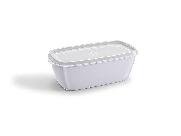 Pote Multiuso Premium Retangular 500ml  Branco Sólido - UZ