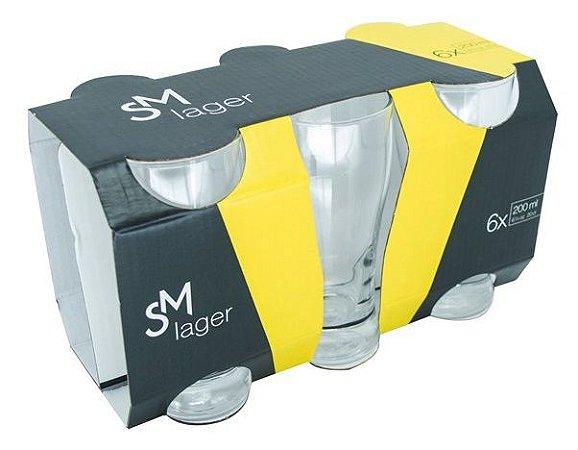 Jogo Copo SM Lager 200ml Com 6 unidades - Nadir Figueiredo