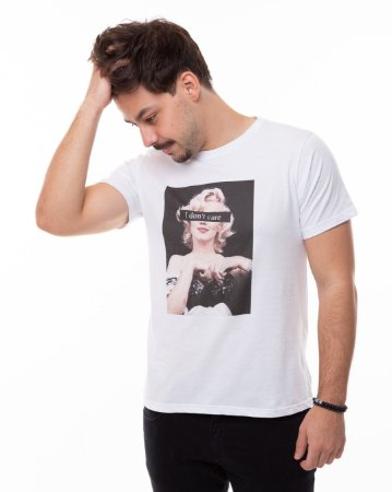 T-shirt I Don't Care Masculina