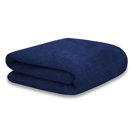 Mantinha Soft Fleece Premium 2,0 x 1,8m - Azul Safira