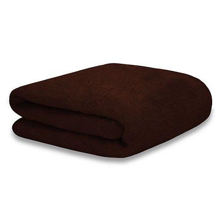 Mantinha Soft Fleece Premium 2,0 x 1,8m - Chocolate