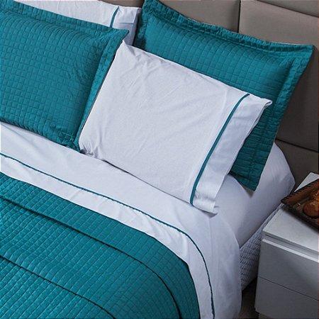 Jogo de Lençol Versatile 100% algodão - Azul Mosaico