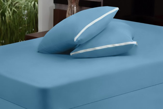 Capa de Colchão com Zíper - Azul