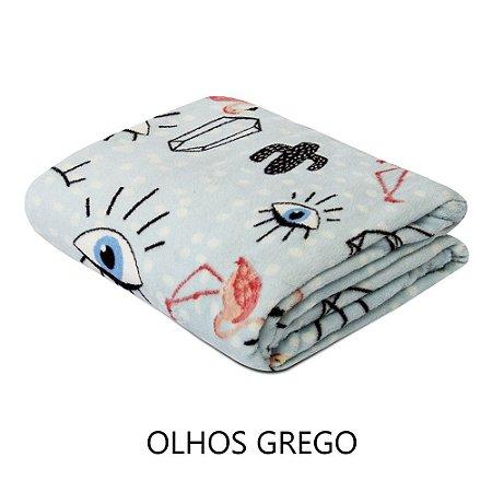 Mantinha Soft Fleece Premium 2,0 x 1,8m - Olho Grego