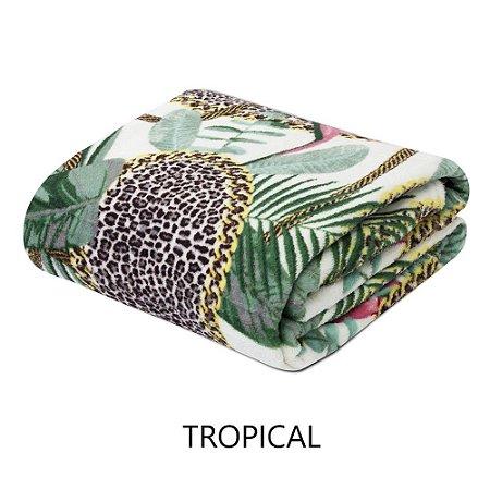 Mantinha Soft Fleece Premium 2,0 x 1,8m - Tropical