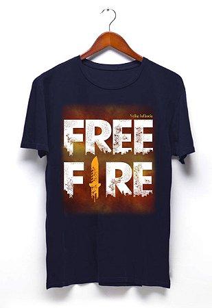 Camisa Free Fire - Azul Marinho