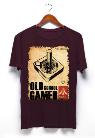 Camisa Controle Atari - Vinho