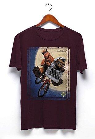 Camisa Alf e ET - Vinho