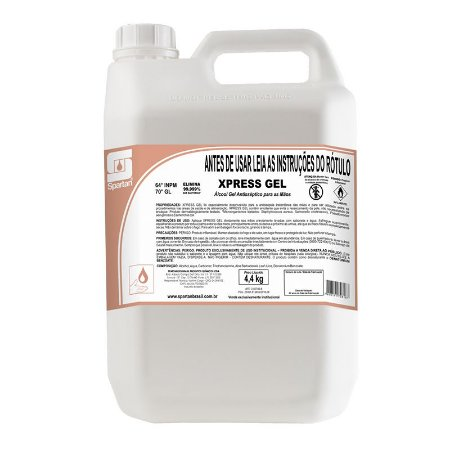 Álcool Gel 70 Xpress 5 Litros Antisséptico Spartan