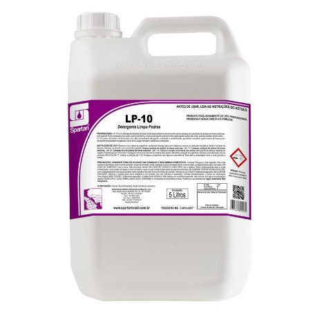 LP-10 Detergente Limpa Pedras 5 Litros Spartan