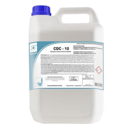 CDC-10 5 Litros Detergente Clorado Para Limpeza Pesada - Spartan