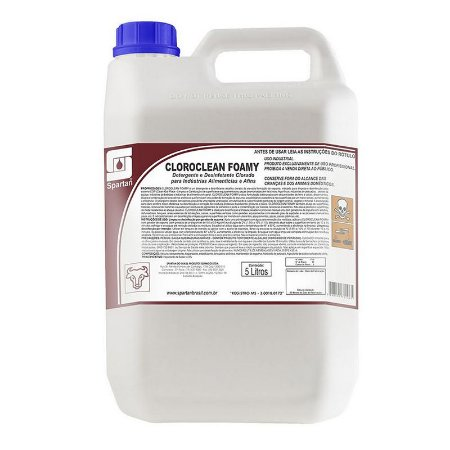 Cloroclean Foamy 5 Litros Detergente E Desinfetante - Spartan