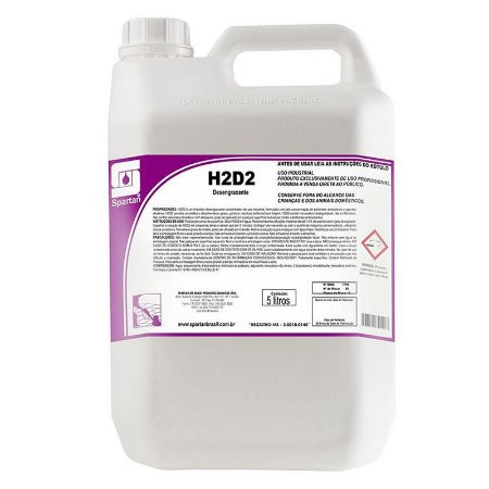 H2D2 5 Litros Limpador Desengraxante Industrial - Spartan