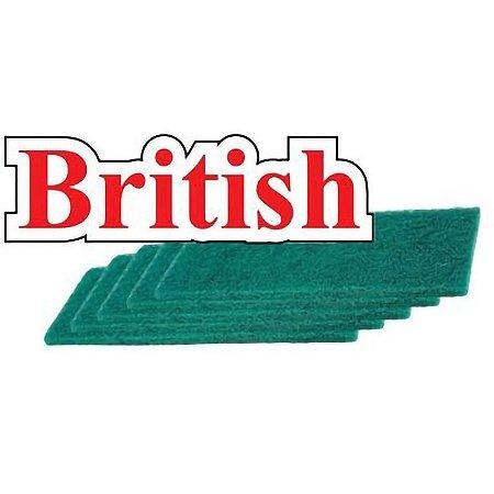 Fibra Verde De Limpeza Geral Pacote Com 10 Super British