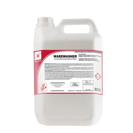 Warewasher 5 Litros Detergente Para Máquinas De Lavar Louças Spartan