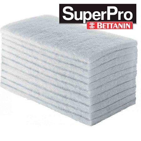 Fibra Branca De Limpeza Leve Slim Com 10 Unidades SuperPro Bettanin