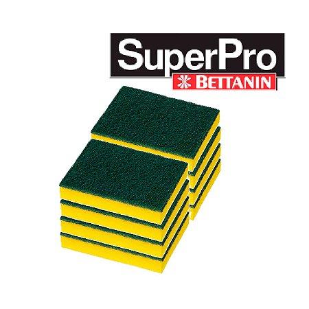 Esponja Dupla Face Multiuso Plus 10 Unidades SuperPro Bettanin
