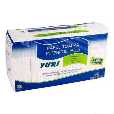 Papel Toalha Interfolhado 20,5cmx22cm Com 1250 Folhas Yuri