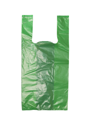 Sacola Plástica Verde - 38x48 cm