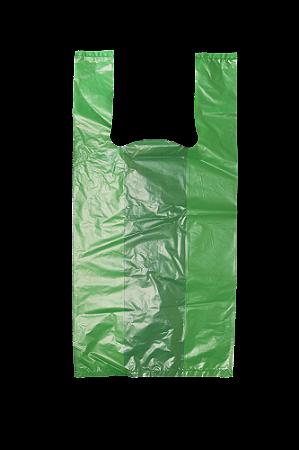 Sacola Plástica Verde - 30x40 cm