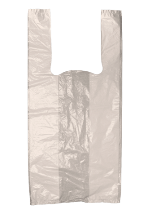 Sacola Plástica Bege - 38x48 cm