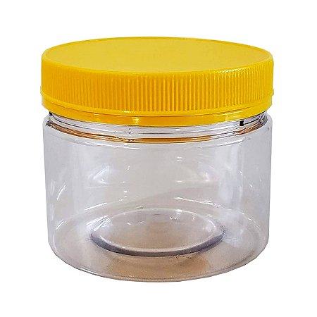 Pote Transparente Com Tampa Rosca/Lacre 350ml / 500g de Mel - 48 UN
