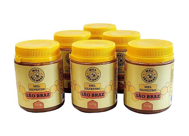 Mel Puro Silvestre 500 Gramas - Caixa Com 24 Unidades