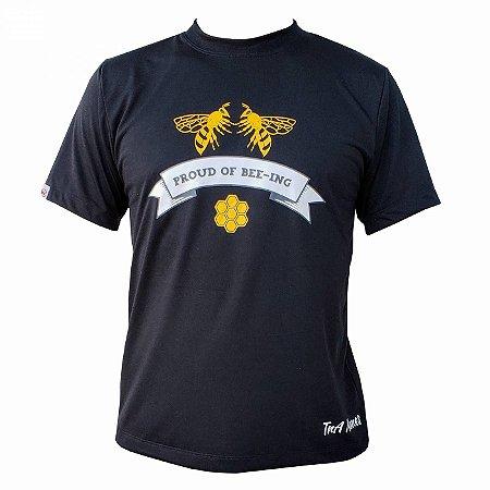Camiseta TNA Nunes Proud Bee-Ing Preta - Apicultura