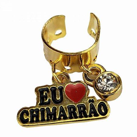 Pingente de Metal Para Bomba de Chimarrão - Eu Amo Chimarrão