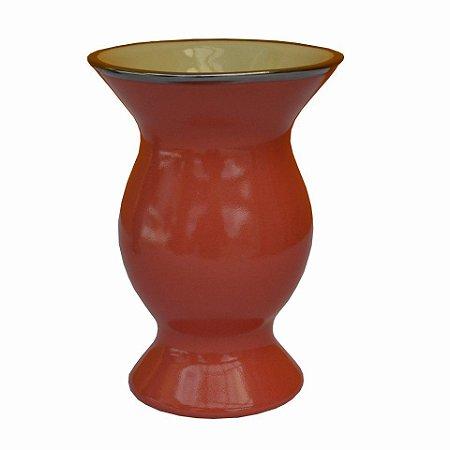 Cuia de Cerâmica Platina Cor Salmão